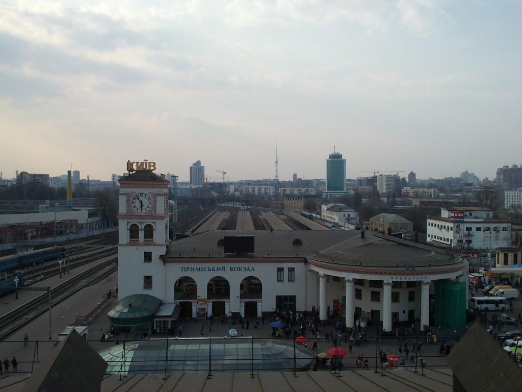 Мойка остекления вокзала