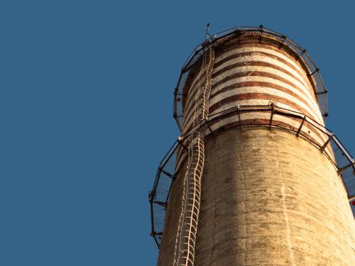 Способы демонтажа кирпичных, железбетонных и железных дымовых труб